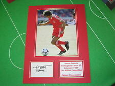 Trevor Francis Signed Nottingham Forest 'The Million Pound Man' Mount