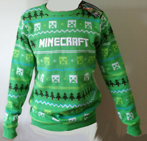 Minecraft Jumper Sizes 6-7 Yrs to 10-11 Yrs Official Licensed by Mojang