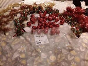 260 x MINI ROSE GOLD BAUBLES CHRISTMAS TREE DECORATIONS WREATH CRAFT JOBLOT XM1