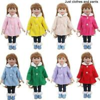 Puppenkleidung Fit 18 Zoll Puppe Baby Warme Jacken + Hosen Puppenzubehör P4 N7P9
