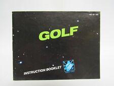 Golf manual - no game .... NES Nintendo