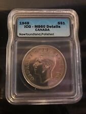 1949 Canadian $1 Coin MS60 (C282)