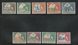 Basutoland: 1954; Scott 46-54, 9 Values, hinged, good thematics, EBB088