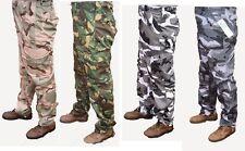 CARGO CAMO COMBAT MENS ARMY WORK TROUSERS 30 - 50 waist  strong tough  short leg