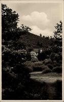 Wieda Südharz Postkarte ~1930/40 Waldpartie am Gast- und Pensionshaus Erholung