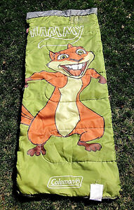 OVER THE HEDGE sleeping bag HAMMY hyperactive squirrel knapsack Coleman
