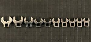 MAC TOOLS  10-PIECE METRIC OPEN END CROWFOOT WRENCH SET  USA