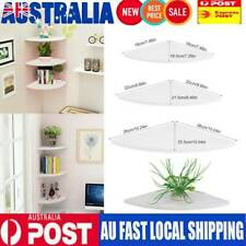 3Pcs Floating Corner Shelf Wall-Mounted Storage Rack Bookshelves Home Furniture