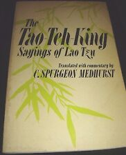 The Tao-Teh-King Sayings Of Lao Tzu 2nd Quest Book Printing 1975 Paperback