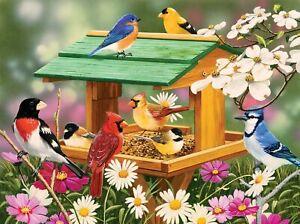 Spring Feast Birds & Flowers Puzzle 1000 pc Jigsaw Puzzle SunsOut Vanderdasson