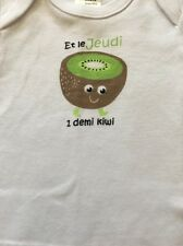 French Day Of Week Thursday A Kiwi Baby One Piece 3 Months Old