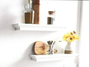 THRESHOLD WALL SHELF WHITE FINISH WITH HARDWARE INCLUDED