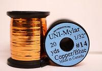 """Mylar Tinsel UNI 1/32"""" = 0,8mm #14 zweifarbig COPPER/BLUE"""