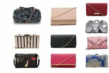 New Womens Designer Style Clutch Evening Bags Ladies Handbag Faux Suede