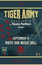 "Tiger Army / Tijuana Panthers / Creeper ""Fall 2016"" Houston Concert Tour Poster"