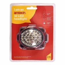 Amtech Head Light Torch 32 Ultra Bright LED Adjustable Headband