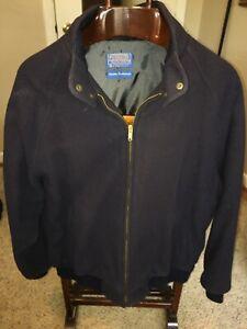 VTG Pendleton Country Traditionals Men's Jacket Virgin Wool USA Navy blue Coat L
