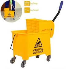 5 Gallon Commercial 20l Wet Mop Bucket Amp Wringer Combo Yellow