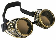Steampunk Antique Brass Motorcycle Flying Goggles Vintage Pilot Biker