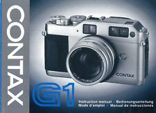 G1 Contax Bedienungsanleitung Manual Instruction