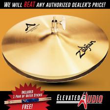 "Zildjian A 14"" Mastersound Hi-Hat Pair + FREE Vater Hickory Drum Sticks!"