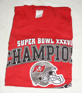 Tampa Bay Buccaneers Super Bowl XXVII Champion T-Shirt Large NEW