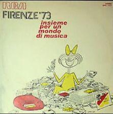 """RENATO ZERO - VINILE 12"""" - FIRENZE 73 INSIEME PER UN MONDO DI MUSICA - RARITÀ !!"""