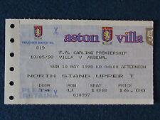 Aston Villa v Arsenal - 10/5/98 - Ticket
