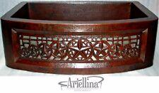 "36"" Ariellina 3D Farmhouse 14 Gauge Copper Kitchen Sink Lifetime Warranty AC1927"