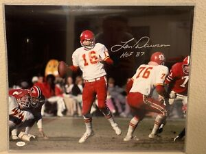 Len Dawson Signed Kansas City Chiefs 16x20 Photo JSA