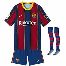 2020-21 Barcelona Home Kits de trajes de fútbol Youth Boys Football Jersey