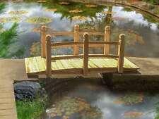 BIRCHTREE Wooden Bridge Garden Pond Water Stream Outdoor Oriental Low Rail