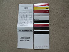2014 CAMARO SS ZL1 Z28 CHEVROLET FACTORY COLOR CHIP SAMPLE CHART BROCHURE