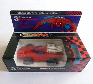 Vintage radio control SPIDER-MAN CAR 3 function AZRAK-HAMWAY 1979 with box