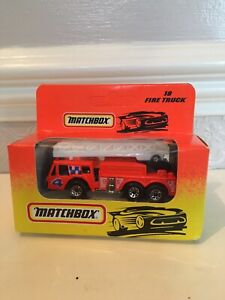 Matchbox 18 Fire Truck Boxed.