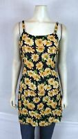 Bali Girl Blue Orange Green Floral Beach Cover Tunic Top Womens Sz Medium Large
