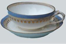 DRESDEN GINORI Doccia COFFEE CUP SAUCER 1890 tazza e piattino caffè antico vase