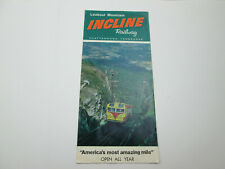 Vintage Lookout Mountain Incline Railway Tennessee Brochure Advertisement