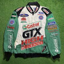 Maingate Mens Castrol GTX Drag Racing John Force Jacket - Size M Snap Closure