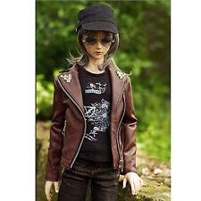 [wamami] 7701# 1/4 MSD AOD DZ BJD Dollfie Brown PU cuir Veste/manteau vêtements