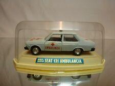 MIRA 4010 SEAT 131 AMBULANCIA - AMBULANCE - WHITE 1:43 - GOOD  IN BOX - ( FIAT )