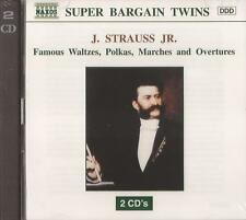 J Strauss - Famous Waltzes, Polkas, Marches & Overtures (CD) NEW/SEALED