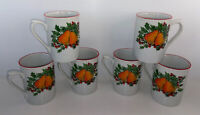 GIBSON Everyday Pear & Holly Berry Christmas 10oz. Coffee Mugs Tea Cups Set of 6
