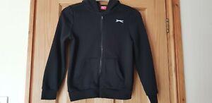 Boys Navy Hooded Slazenger Sweatshirt Size 9-10