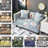Universal Sofa Covers 1-4 Seater Easy Fit Elastic Stretch Couch Floral Slipcover
