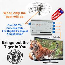 HDTV Digital TV VCR Antenna Amplifier Booster Splitter Satellite 30-40db Gain