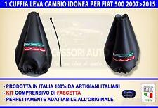 Cuffia Cambio Fiat 500 2007>2015 leva marce cuffie per nuova cinquecento + logo