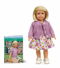 "BRAND NEW American Girl 18"" RETIRED CLASSIC KIT DOLL with SKIRT, SWEATER & BOOK"