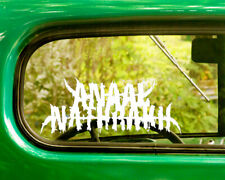 2 ANAAL NATHRAK BAND DECAL Bogo Stickers For Car Truck Window Bumper Laptop Jeep