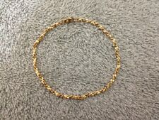 """Goldtone Rope Chain Anklet - 9"""" Length"""